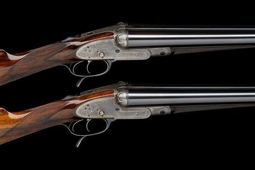 J. WOODWARD & SONS A PAIR OF 12-BORE 1876 ''THE AUTOMATIC'' PUSH-FORWARD UNDERLEVER SIDELOCK NON-EJECTORS, serial no. 4358 / 9