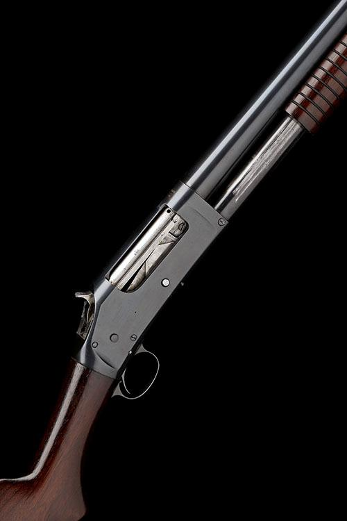 WINCHESTER REPEATING ARMS CO. A 12-BORE ''MODEL 1897'' PUMP-ACTION REPEATING SHOTGUN, serial no. 721229,