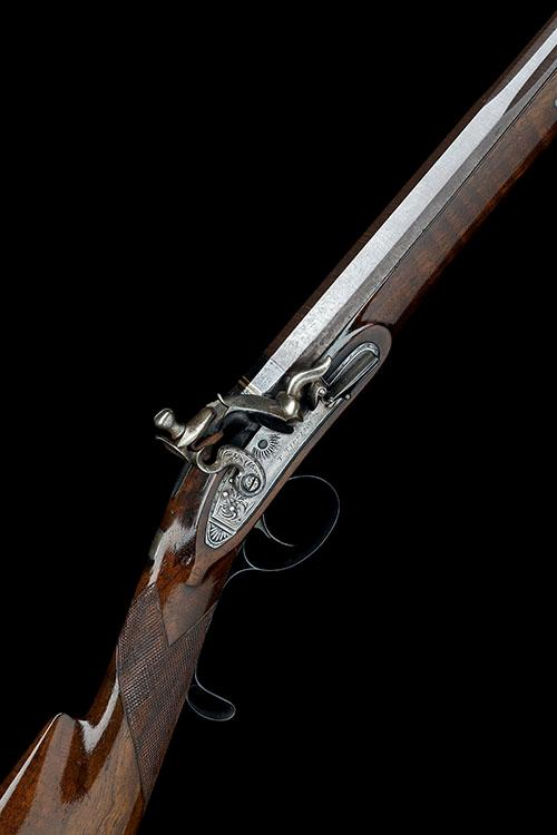 T. TIPPING, LONDON A 16-BORE FLINTLOCK SINGLE-BARRELLED SPORTING-GUN, no visible serial number,
