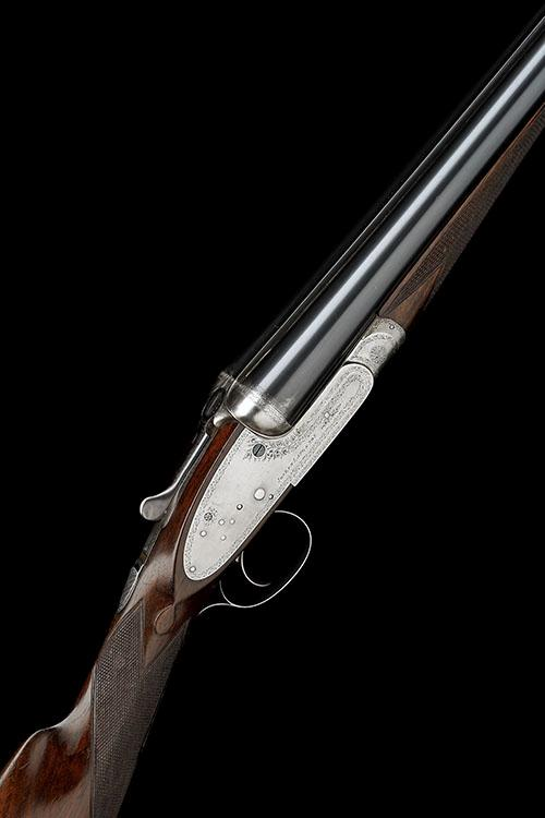JOSEPH LANG & SON A 12-BORE SINGLE-TRIGGER SIDELOCK EJECTOR, serial no. 14057,
