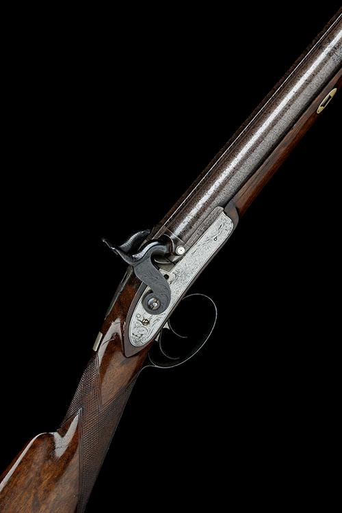 WESTLEY RICHARDS, LONDON & BIRMINGHAM A 16-BORE PERCUSSION DOUBLE-BARRELLED SPORTING-GUN, serial no. 1082,