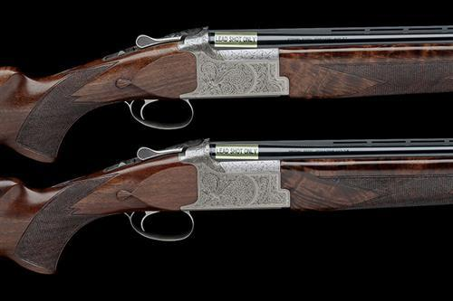 † B.C. MIROKU A PAIR OF NEW AND UNUSED 12-BORE (3IN.) ''MK-60 SPORT'' SINGLE-TRIGGER OVER AND UNDER EJECTORS, serial no. 74080ZT