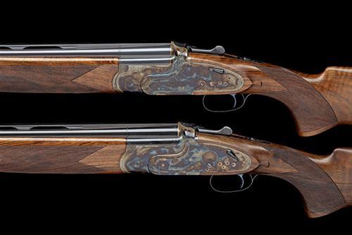 † WEBLEY & SCOTT A PAIR OF NEW AND UNUSED 12-BORE (3IN.) ''MODEL 3000'' OVER AND UNDER HAND-DETACHABLE SIDELOCK EJECTORS, TRJ 00