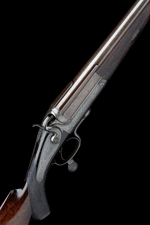 J.S. BOREHAM A 4-BORE SINGLE-BARRELLED ROTARY-UNDERLEVER HAMMERGUN, no visible serial no.,