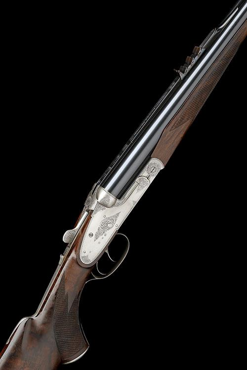 EBBINGHAUS (SAARBRUCKEN) A FUNK-ENGRAVED .470 NITRO EXPRESS SIDELOCK NON-EJECTOR DOUBLE RIFLE, serial no. 91149,