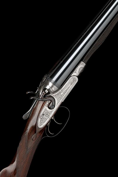 ARMY & NAVY C.S.L. A 12-BORE TOPLEVER HAMMERGUN, serial no. 8484,