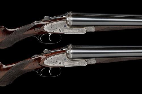 J. WOODWARD & SON A PAIR OF 12-BORE SIDELOCK EJECTORS, serial no. 6064 / 5,