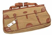 † GUARDIAN HERITAGE A NEW AND UNUSED CANVAS AND LEATHER LARGE TRAVEL BAG,