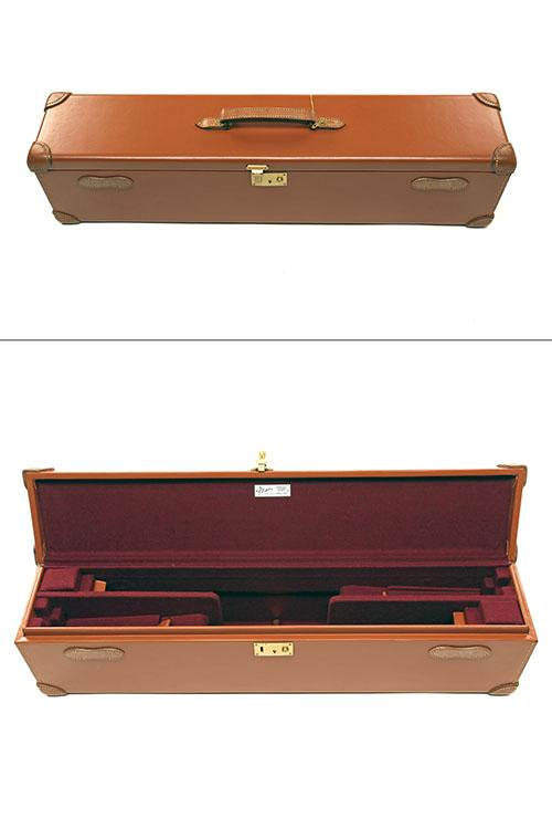 BRADY AN UNUSED LEATHER DOUBLE GUNCASE,