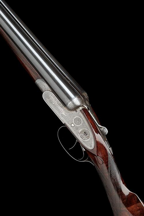 WILLIAM POWELL & SON A 12-BORE SIDELOCK EJECTOR, serial no. 12119,