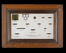 ICI LTD A SCARCE FRAMED AND GLAZED DISPLAY SHOWING THE MANUFACTURE OF .22 'TENEX' RIMFIRE AMMUNITION,