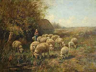 Schilderijen BOUTER, PIET (1887-1968), herderin