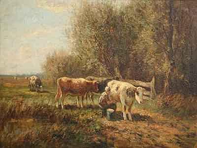 Schilderijen BOUTER, PIET (1887-1968), melkende