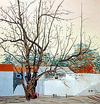 吴冠中 (1919 - 2010) 冬日 Wu Guanzhong Winter Scene