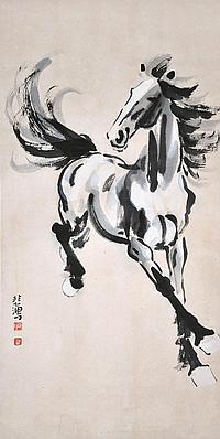 徐悲鴻 (1895 - 1953) 獨領風騷 Xu Beihong Lone Stallion