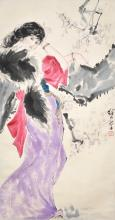 Liu Jiyou Beauty 刘继卣 (1918 - 1983) 美人赏梅图