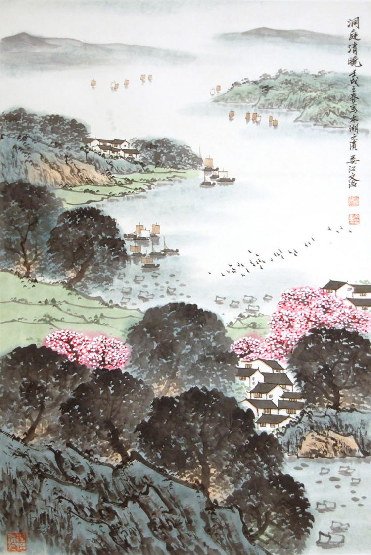 Song Wenzhi Morning at Lake Dongting 宋文治 (1919 - 1999) 洞庭清晓