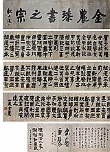 清 金農 (1687 - 1764) 漆書之宗 Jin Nong Qing Dynasty Calligraphy in Bafen Script
