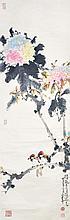 趙少昂 (1905 - 1998) 鳥語花開  Zhao Shaoang  Birds and Blossoms