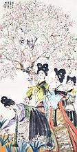 程十髮 (1921 - 2007) 麗人行詩意圖 Cheng Shifa Gathering of Miao Beauties