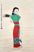 張大千(1899 - 1983)誰憐越女顏如玉 Zhang Daqian  Lady
