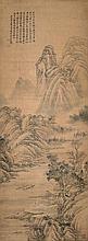 清 王翬(1632 - 1717)雲峰青遠岫 Wang Hui Qing Dynasty  Mountain River