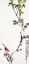 趙少昂(1905 - 1998)枝頭小鳥 Zhao Shaoang  Little Bird