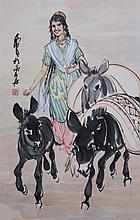 黃冑(1925 - 1997)趕集忙 Huang Zhou  Going to Market
