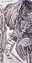He Haixia (1908 - 1998)    何 海 霞 Landscape 放 木 出 峽 圖, Haixia He, Click for value