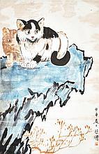 徐悲鸿 (1895 - 1953) 二猫图 Xu Beihong Two Cats