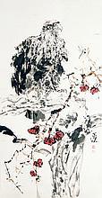 杨善深 (1913 - 2004) 稚鹰图 Yang Shanshen Eagle Fledgling