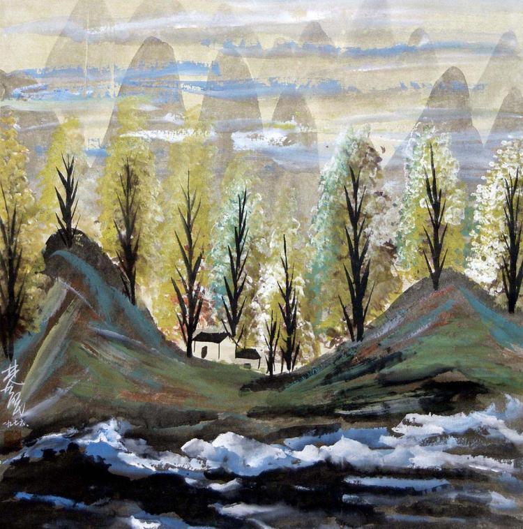 林风眠 (1900 - 1991) 云山丛树图 Lin Fengmian Tree Ridges
