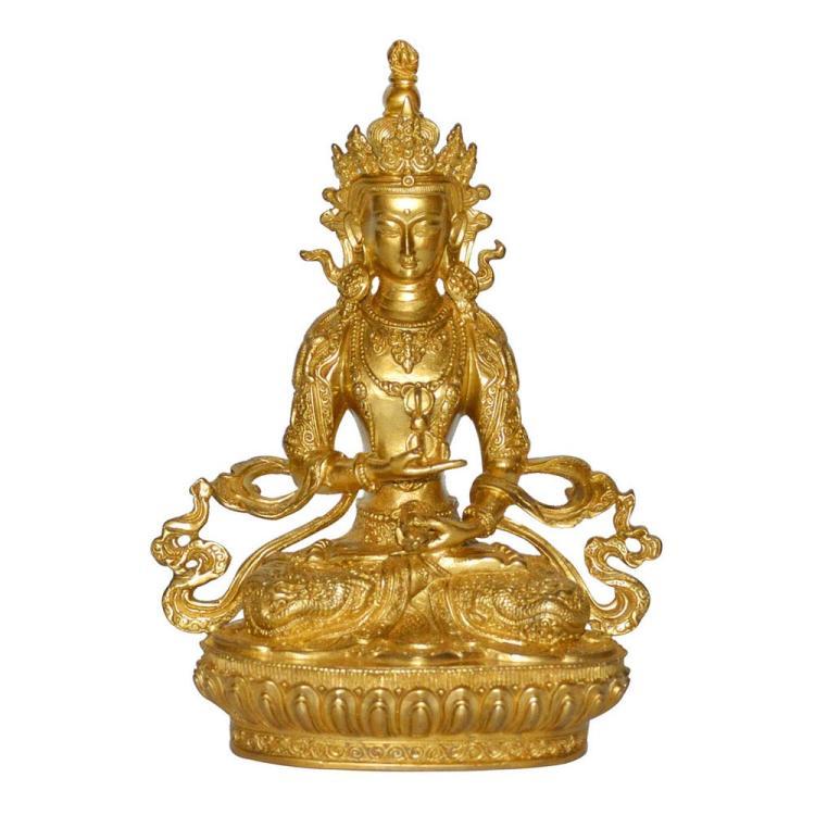 清 铜鎏金金刚萨埵佛坐像 Qing, A Gilt Bronze Figure of Vajrasattva