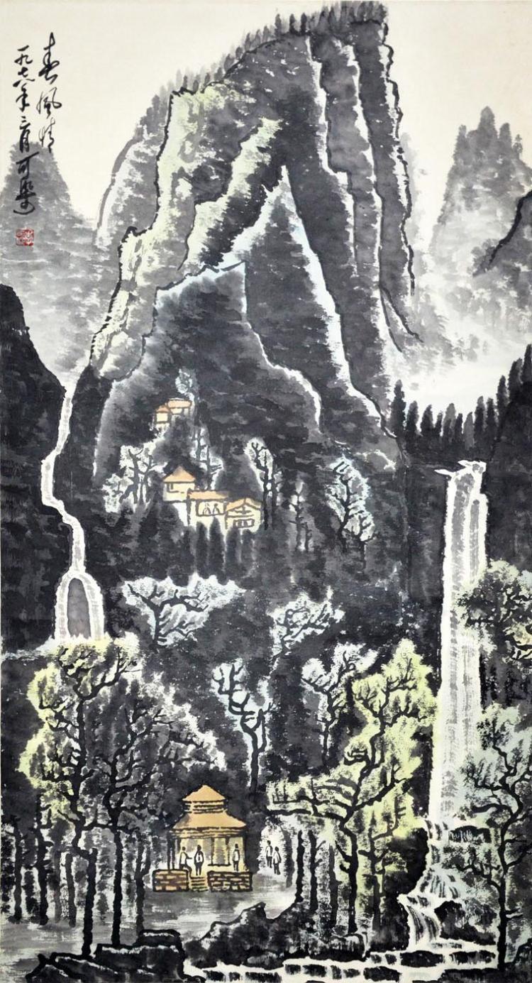 李可染 (1907 - 1989) 春风情 Li Keran Spring Scenery