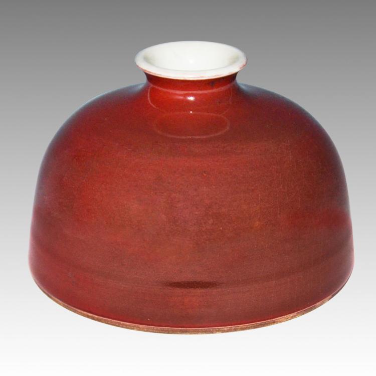 清 乾隆 豇豆红太白尊 Qing, Peach-bloom Glazed 'Beehive' Waterpot, TaiBaiZun