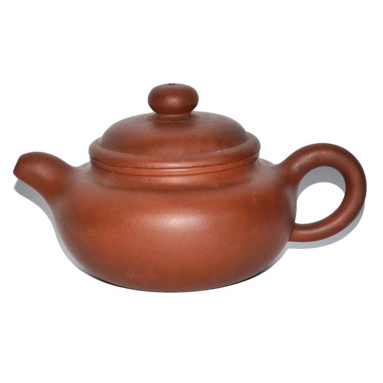顾景舟 紫砂荸荠圆钮壶 Gu Jingzhou Zisha Teapot