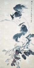 清 虚谷 (1824 - 1896 ) 松鼠图 Xu Gu Qing Dynasty Squirrels