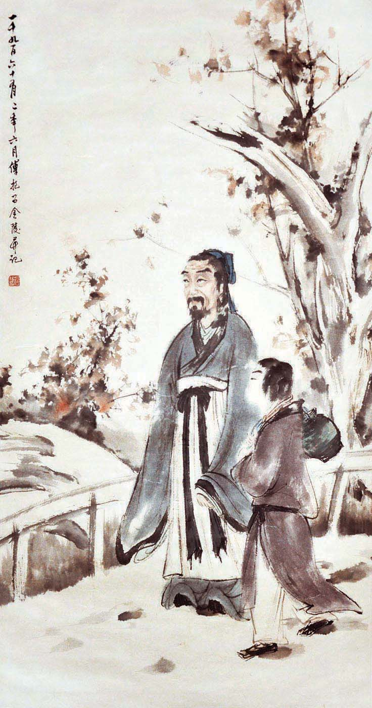傅抱石 (1904 -1965) 寻得灵仙带醉归 Fu Baoshi Returning Home with the Immortal Spirit