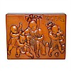 黃金黃田黃童戲詩句賞件 A Finely Carved Rectangular Tianhuang Seal-Ornament, Dawei Liu, Click for value