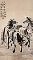 徐悲鴻 (1895-1953) 三駿圖 Xu Beihong  The Three Spirited Horses