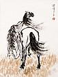徐悲鴻 (1895-1953) 草原雙馬圖 Xu Beihong  Two Steed on the Prairie