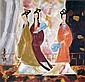 林風眠 (1900 - 1991)   三美圖 Lin Fengmian  Three Beauties