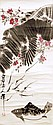 齊白石 (1864 - 1957) 桃花流水鮭魚肥 Qi Baishi  Fish under Plum Blossom