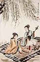 傅抱石(1904 - 1965)調樂圖 Fu Baoshi The Musicians