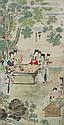 明 尤求(嘉靖至萬曆)仕女苑會圖 You Qiu Ming Dynasty Ladies in Garden