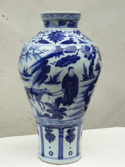 Important Yuan Dynasty Wide-mouth Meiping with Drama Story & Figures