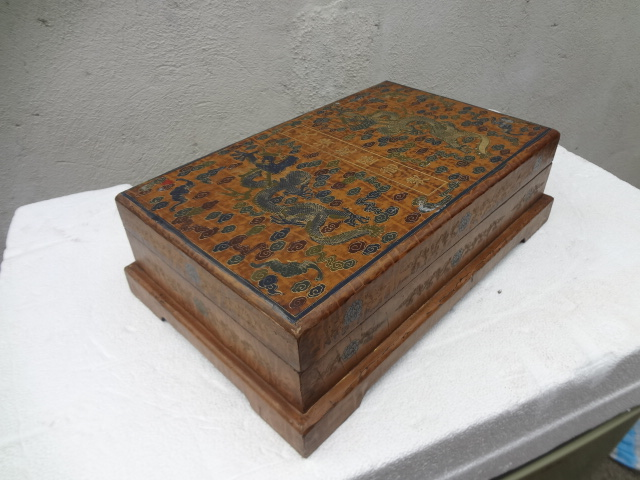 Exquisite Qing Dynasty Qianlong Emperor's Lacquer Wood Box