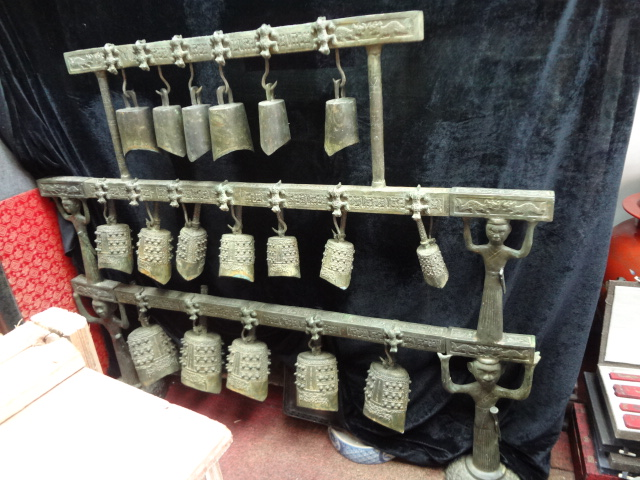 Warring States Treasure: Rare Set of 18 Bronze Bells with Inscriptions