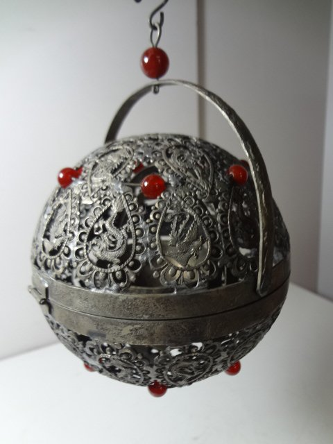 Exquisite Tang Dynasty Silver Perfume Ball with Gyroscope Cup