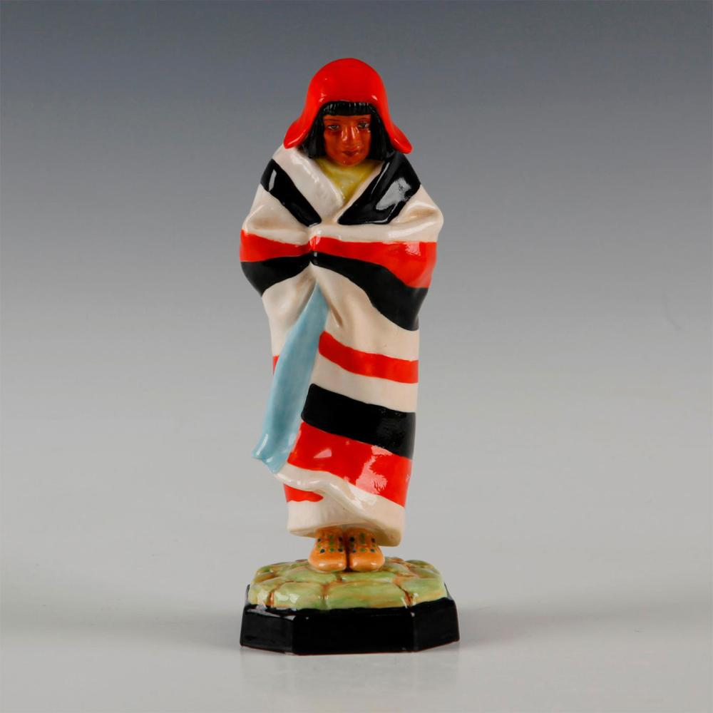 ROYAL WORCESTER FIGURINE, NATIVE AMERICAN INDIAN SQUAW